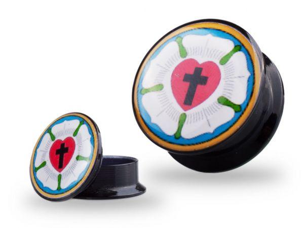 Lutherrose Plug Tunnel für Dein Ohr mit 10 mm Durchmesser