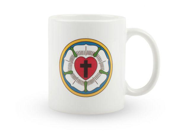 Tasse mit dem Siegelmotiv von Martin Luther, der Lutherrose