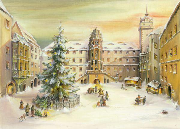 Titelbild Adventskalender Schloß Hartenfels Torgau