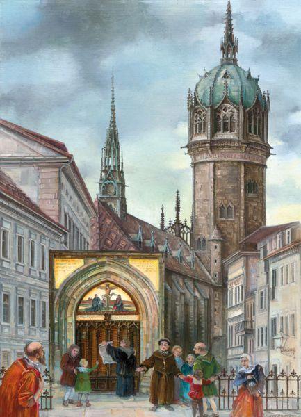 Weihnachts-Postkarte 500 Jahre Reformation Wittenberg