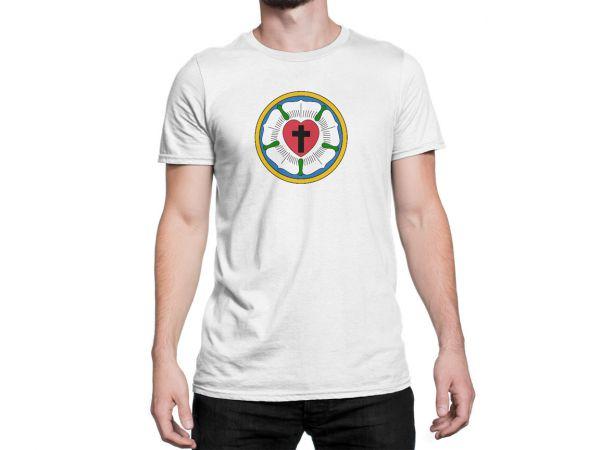 """T-Shirt  für Herren mit Motiv  """"Lutherrose"""""""