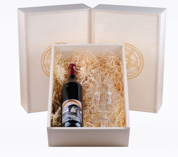 Lutherwein Rot mit Weinkelch Power Geschenkset