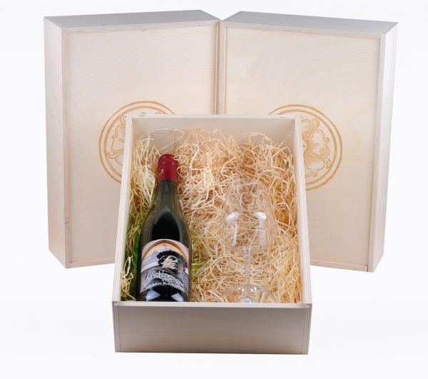 Lutherwein Weiß mit Weinkelch Classic Geschenkset